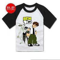 Ben 10 t-shirt fashion family Short sleeve T-shirt ben10 child clothing