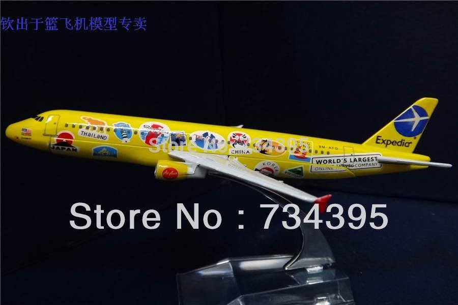16cm A320 plane AirAsia Airbus A320 plane painted alloy die casting plane simulation gift souvenir Adults Children Toy Vehicle(China (Mainland))