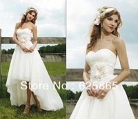 2014 New Style Noble/Elegant  Sweetheart With Lace/Flower/Train  A-line Wedding Dress ,Custom All Size!!!! H-25323