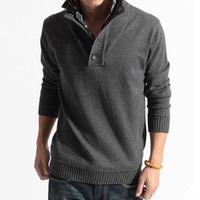 2014 new fashion Korean men's sweater coat men hit color cotton sweater Gazapas faux two piece male sweater V-neck sweater