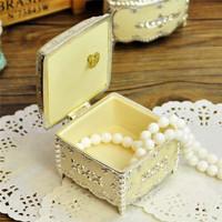 Metal christmas jewelry box music box music box married birthday gift male girlfriend gifts