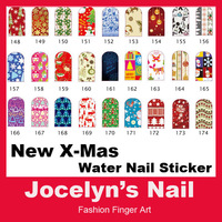 New Arrival !! Free shipping Water transfer christmas nail art stickers 16wraps/sheet , 27 models Item No. 13120901