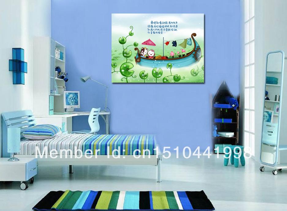 Children room kindergarten paintings koop goedkoop children room kindergarten paintings - Deco kamer volwassen blauw ...