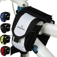 E0070 Bicycle Tube Bag Multifunctional 450D PVC Bike Double Bags Cycling Cross Beam Bag Hotsale Wholesale Free Shipping