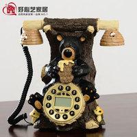 Antique telephone fashion phone vintage landline telephone koala bear telephone