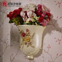 Hand painting vase modern fashion victoria resin vase home decoration flower
