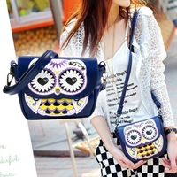 New Fashion women's handbag cartoon mini owl print one shoulder cross-body bag women's Cute messenger bag #L09266