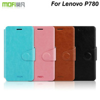 100% Original Mofi PU leather case for Lenovo P780 ,With stand function ,Free shipping