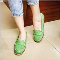 2013 fashion preppy style flat heel single shoes female vintage flat plus size women's shoes 34