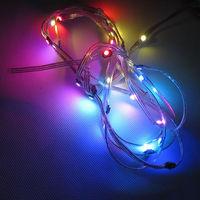 50x Pre-soldered WS2812B LED Heatsink 5V 5050 RGB WS2811 IC Built-in & 12cm Wire