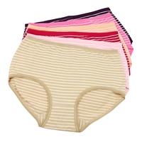free shipping 100% cotton panties 100% women's briefs cotton plus size seamless comfortable 5