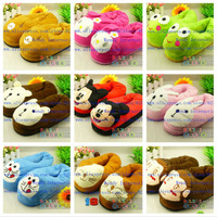 A+++ New Winter Kids Slippers Warm Animal Frog Pet Rabbit Red Yellow Shoe Home Kids Crib Shoes Boy Girl Slippers