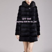 BG29275 New Winter Warm Natural Full Pelt Rex Rabbit Fur  Coat Wholesale Retail Women Winter Rex Rabbit  Fur Coat
