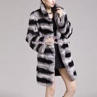 BG29279 New Winter Warm Natural Full Pelt Rex Rabbit Fur   Coat Wholesale Retail Women Winter Rex Rabbit   Fur Coat
