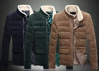 2013 selling fashionable new men's cultivate one's morality with thick cotton-padded clothes man winter jacket coat