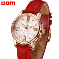 ladies watch women wristwatches      Dom  leather  quartz casual        dress watches relogio feminino reloj mujer montre femme