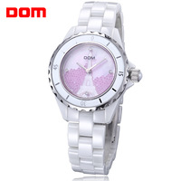 ladies watch women wristwatches Dom       luxury ceramic quartz        dress watches relogio feminino reloj mujer montre femme