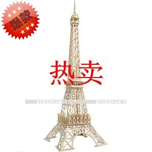 Paris Eiffel Tower quadruple wood wooden model assembled model on 3D puzzle(China (Mainland))