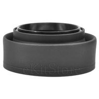 62mm Collapsible Rubber Lens Hood Folding Shade 3 in 1 - Free Shipping
