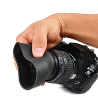 52mm Collapsible Rubber Lens Hood Folding Shade 3 in 1 - Free Shipping