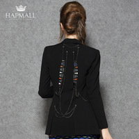 Hapmall 2013 women's black small suit jacket one button slim long-sleeve fashion all-match personality suit
