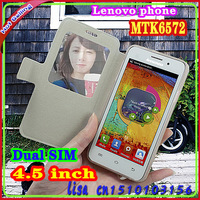 New Arrive Cheap 4.5 inch Android phone Dual Sim Lenovo S720 MTK6589 8.0MP 1GB RAM 4GB Dual Camera Free Gift Pack!