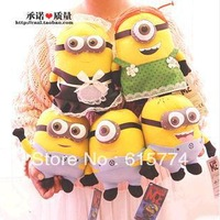 5PCS Minions Family 25CM 3D Despicable ME 2 Maid 9Inch Dolls & Stuffed Toys with tags Dolls & Stuffed Toys