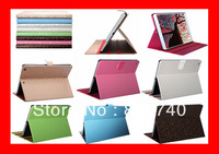 Wholesale 100 Pcs/Lots new 2013 Luury Diamond Stand Smart Cover Case For Apple iPad Air 5 leather case for ipad 5
