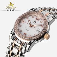 2015 New Real Switzerland Brand Women Quartz Watch+czech Diamond+sapphire Waterproof 3atm Women's Watches Calendar Back Light