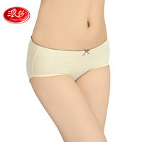 free shipping Langsha panties female cotton 100% antibiotic comfortable sexy seamless briefs 100% cotton panty