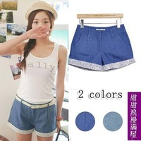2014 summer women's hot-selling g2011 all-match lace decoration 3 casual shorts