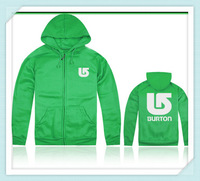 2014 Newest fashion burton men/women green hoodie and jacket,sports hip hop mens cotton long sleeve good quality winter hoody