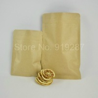 15*21 Kraft Paper flat sealed ziplock bags tea bags food sealed ziplock bag 100pcs/lot