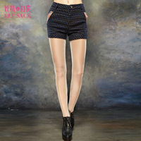 Elf SACK nighty-night lamy winter plaid belt shorts