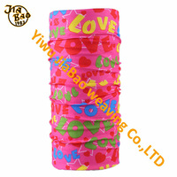 cheap polyester multifunctional pink bandana on sale