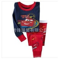Christmas baby Pajams sets Kids sleepwears children's 2pcs  car Pyjamas for 2-7Yrs kids clothing set 2014new year
