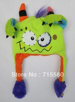 FLIPEEZ YELLOW MONSTER BOY GIRL HAT ONE SIZE FITS ALL SO CUT