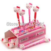 Hello kitty Ballpen Cartoon Cat Head Design Black Ink lovely writing pen