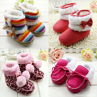 2013 new HOTchildren Snow rainbow Boots Thicken Winter Children Shoes For baby Kids child snow boots 4 colour bebe sapatos R1053
