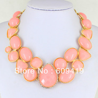 fashion accessories 2014 bib resin candy statement necklaces & pendants For Women LM-SC617