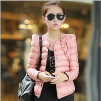 4 Colors New Arrival Short Jackets Long Sleee Slim Women Cloth  Fashion Ladies Cotton-Padded Clothes Size M L XL XXL