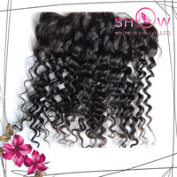 Cheap Curly  Full Lace Frontal Closure 13x4,10-24 Inch in Stock hair closure Virgin Monglolian Human Hair Bleached knots