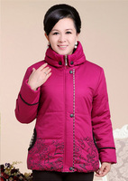 new 2013 winter runway fashion mom down cotton-padded jacket brand slim medium-long women's plus size winter wadded jacket