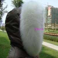 Fox fur collar raccoon fur collar fur cap of son false collar muffler scarf winter white
