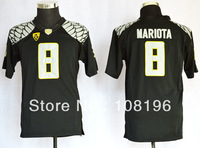 Free Shipping 2013 kids Oregon Duck Marcus Mariota 8 kids College Football Jerseys size S,M,L,XL,Mix Order,