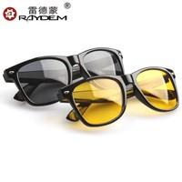 Free Shipping Hiqh Quality Plastic Frame Retro Sunglasses Women Night Driving Glasses Black Frame With Yellow Lense M5052