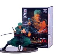 5pcs/lot Free Shipping Decisive Battle Version One Piece Roronoa Zoro PVC Action Figure Collection Model Toy