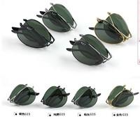 Free Shipping High Quality Metale Frame Folding Polarized Sunglasses Men And Women Pilot Eyewear Brand Designer M8808