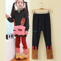 Free Shipping-2014 New Style Cute Girs Pure Cotton Model Rabbit Leggings  Girs Clothing Leggings 2Colors