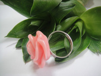 10.Fashion PINK  ROSE flower Ring FACTORY PRICE  4PCS/PACK Hot Selling Stainless Steel Free Shipment